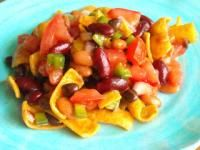 Six Sisters Three Bean Frito Chip Salad Recipe. This is always requested at BBQs.  So easy to make....just mix together!