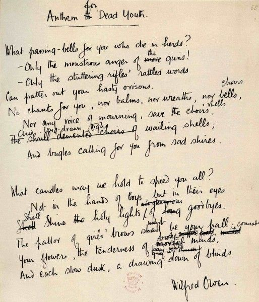 war poet wilfred owen poems of Essay example made by a student owen explores his major theme the 'pity of war' he was mainly concerned with establishing the truth about war: that it was not at.