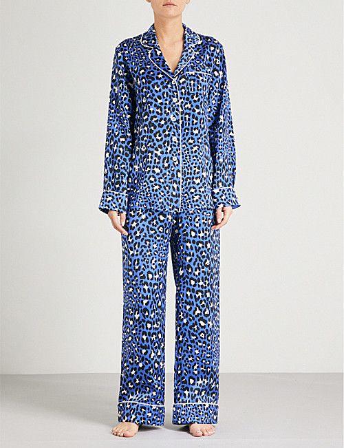 OLIVIA VON HALLE Lila Lillian silk-satin pyjama set