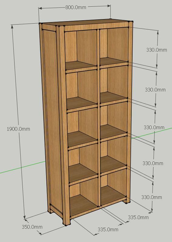 lp record shelf plans