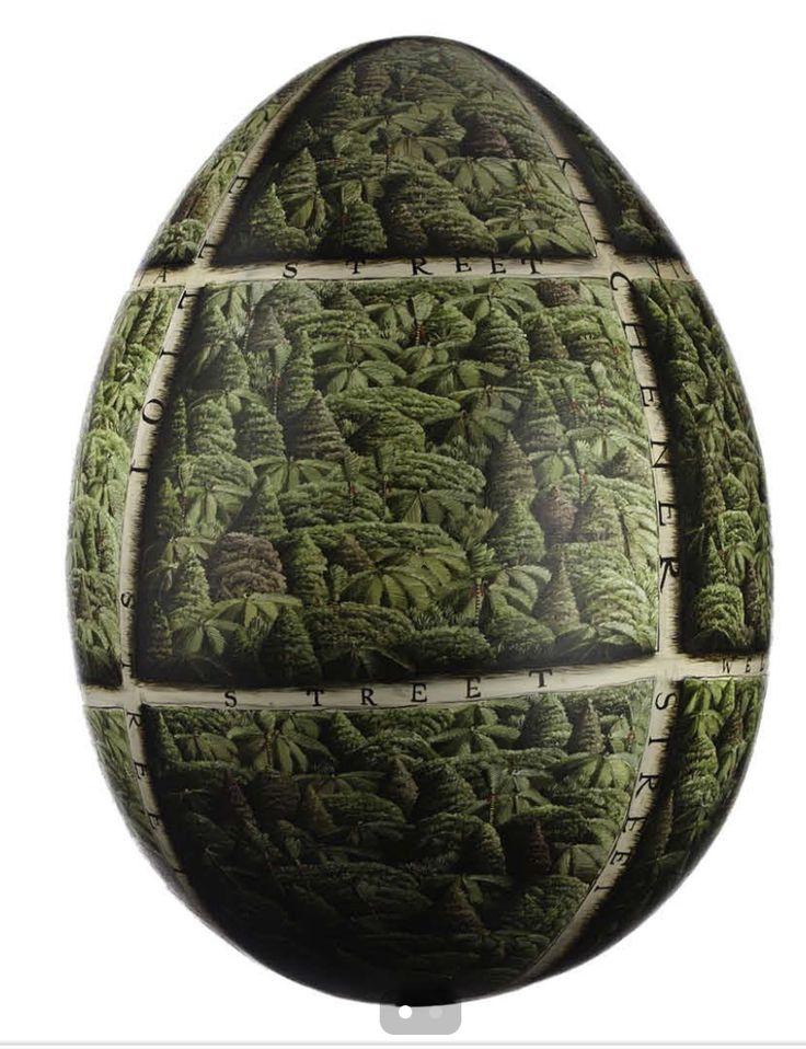 The big egg hunt, New Zealand 2015. 'Bush Egg' by Mark Wooller