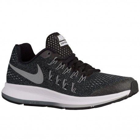 Nike Zoom Pegasus 33 Boys Grade School Running Shoes BlackCool GreyWolf GreyMetallic Silversku34316001