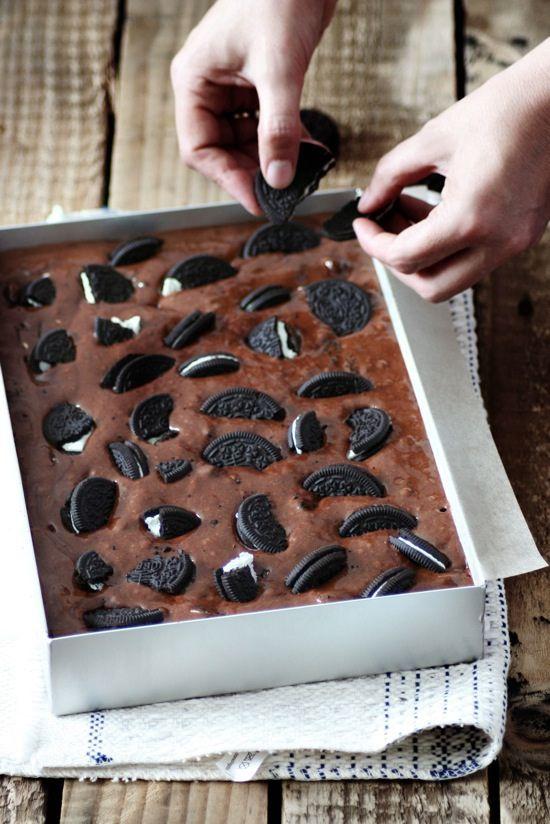 Brownies de Oreo