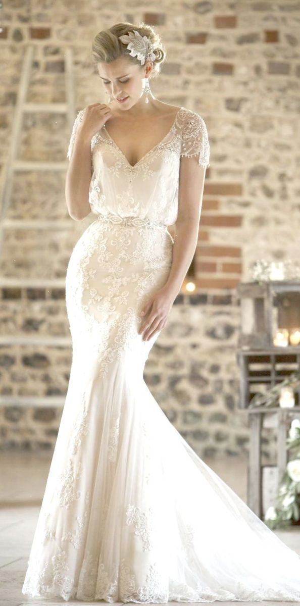 Diamond Lace Wedding Dress