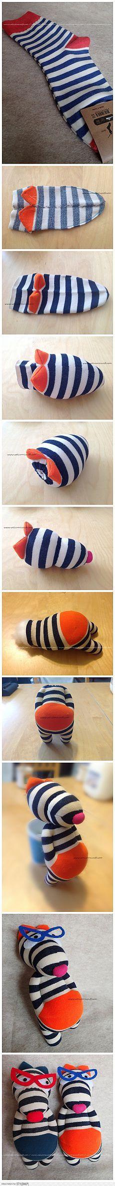 прикольная игрушка из носков                                                                                                                                                                                 More