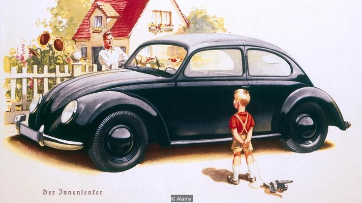 German advert for VW Beetle (Credit: Alamy)