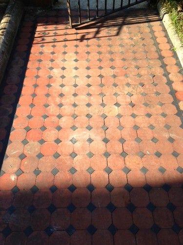 edwardian tiles - flooring outside