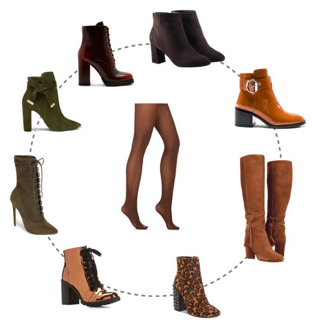 """""""brown tights and shoes"""" by olga-kim-b ❤ liked on Polyvore featuring Wolford, Jeffrey Campbell, Qupid, Steve Madden, Prada, Ted Baker, Avon and Jessica Simpson"""