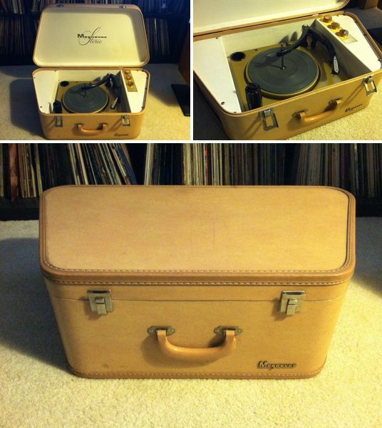 Unique Magnavox Suitcase Style Record Player In The Form