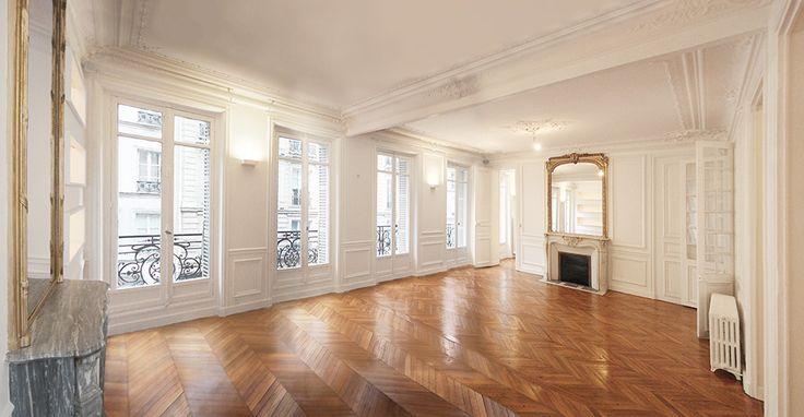 appartement haussmannien suelos pinterest haussmannien appartements et vieux colombier. Black Bedroom Furniture Sets. Home Design Ideas