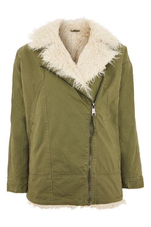Longline Faux Fur Lined Parka Jacket