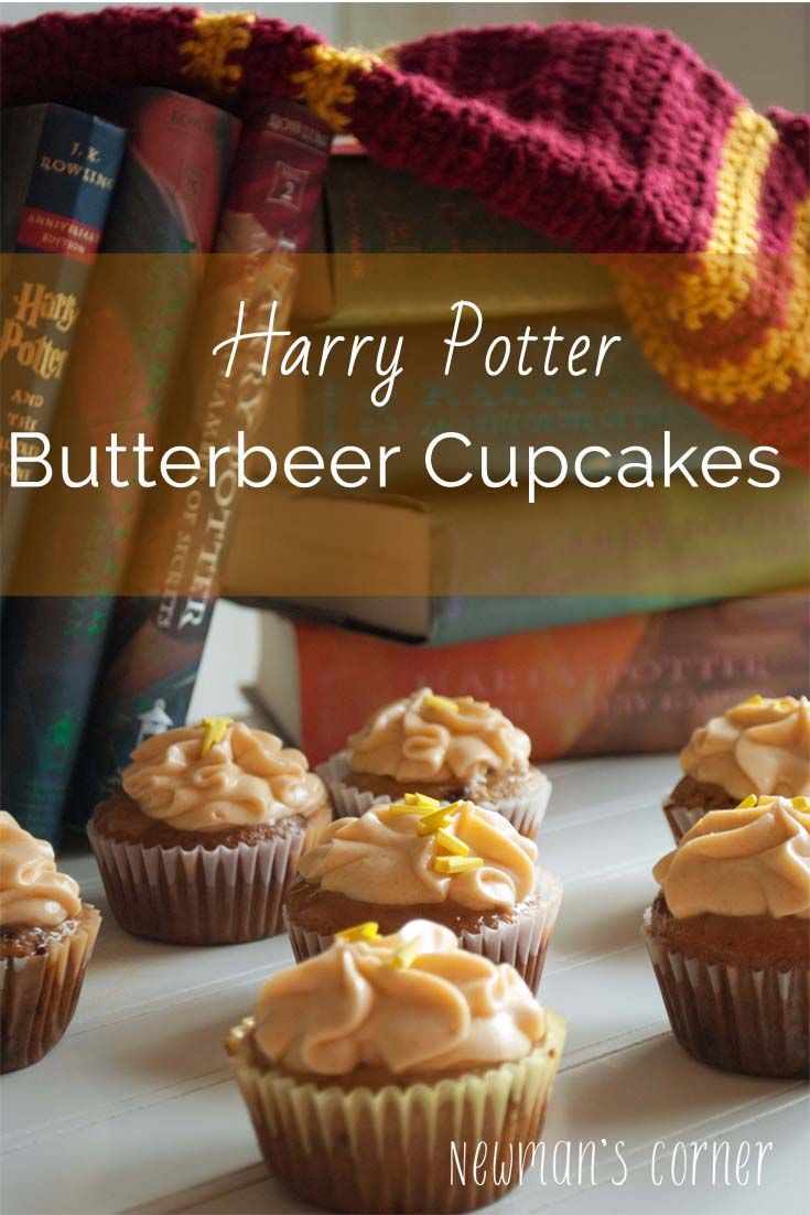 Harry Potter Butterbeer cupcakes for your Harry Potter movie marathon or party