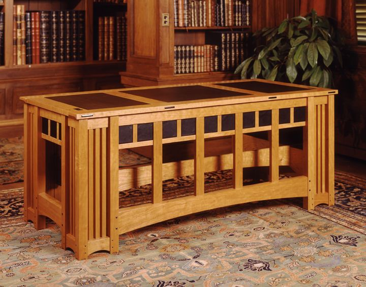 639 best images about arts crafts mission style on for Craftsman style desk plans