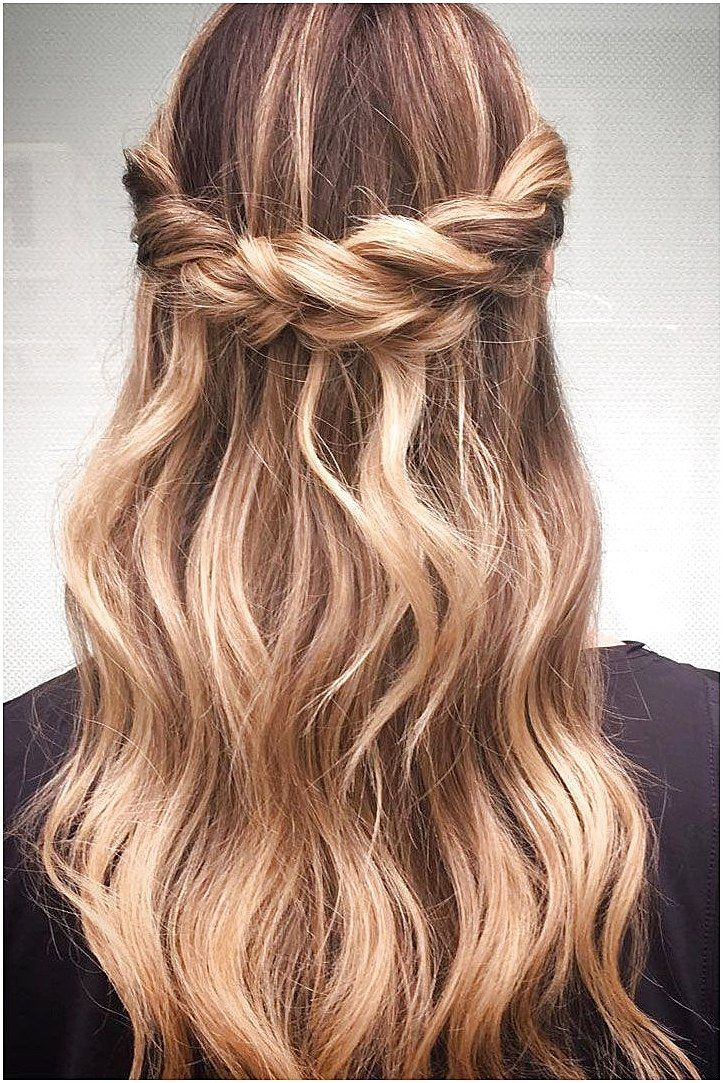 Crown Braid With Half Up Half Down Hairstyle Inspiration Mediumhairbraiding Click Now To See More Braided Hairstyles For Wedding Half Up Hair Hair Styles