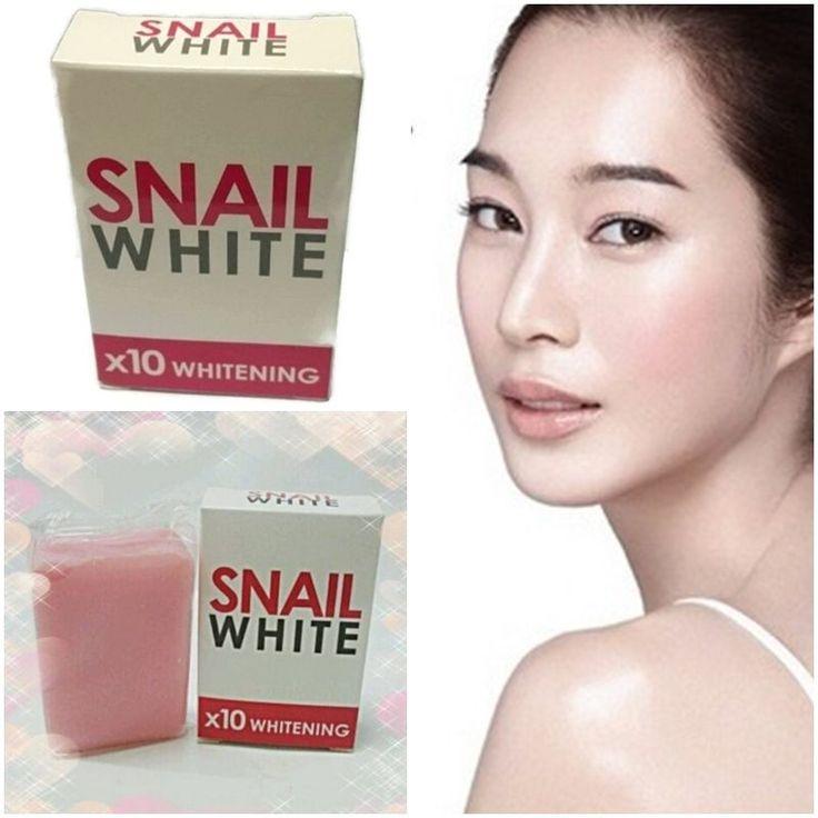 Skin Whitening Soap Snail White Glutathione x10 Whitening Lighten Body Effective #SnailWhite