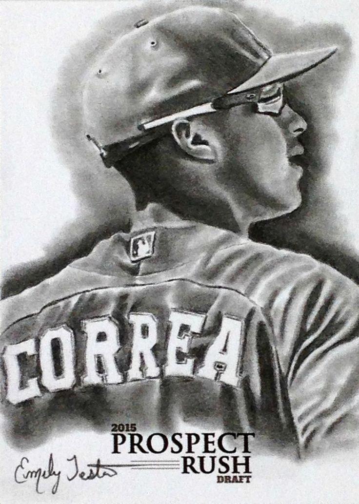 Carlos Correa Houston Astros Sketch Card by avintagedreamer