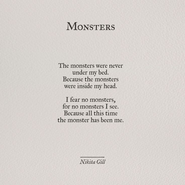 Monsters - Nikita Gill