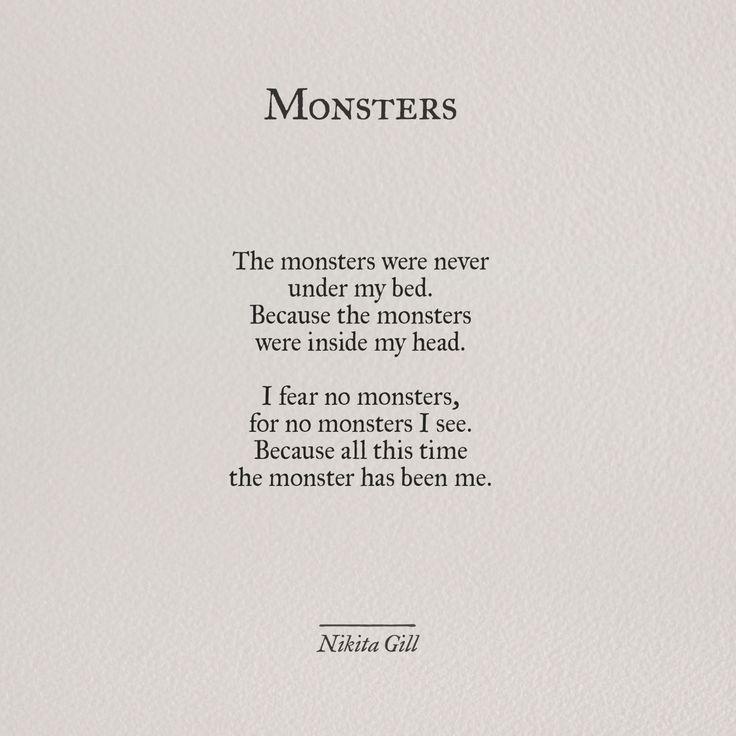 Monsters - Nikita Gill