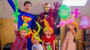 Супермен аниматор на День Рождения
