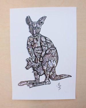 Kangaroo Find-a-Thing Print