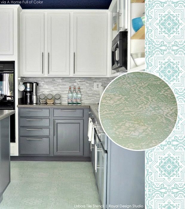 Benjamin Moore Starts A Trend With Stenciled Kitchen: 314 Best Images About Stenciled & Painted Floors On