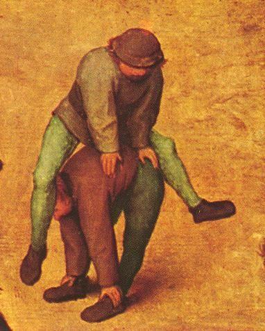 """... Bruegel""""een aantal van de overbevolkteschilderijen van Breughel"""