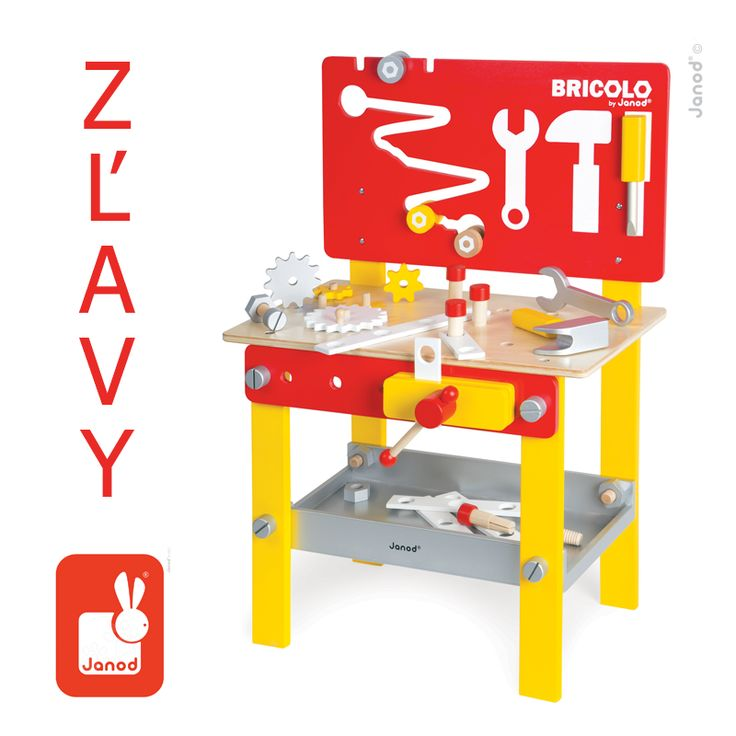 Využite povianočné ZĽAVY až do výšky 42% v našom e-shope www.mackoviahracky.sk/vyrobca/janod . Drevený magnetický pracovný stôl na obrázku - http://goo.gl/V8fFcs