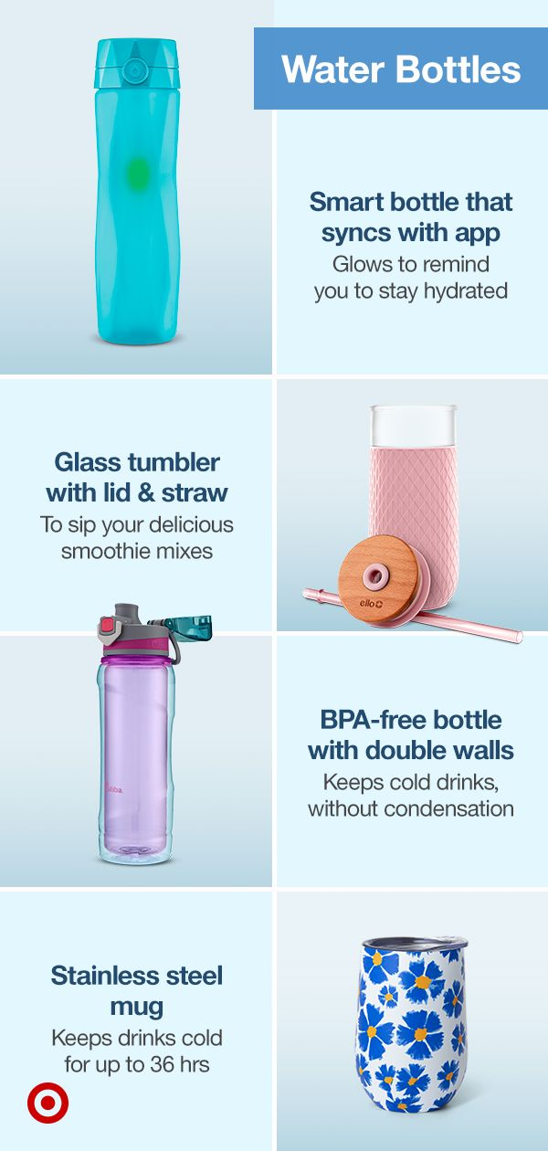 Stay Hydrated With Water Bottles Smart Bottles That Sync With Wellness Apps For Healthy Reminders To Drink Water In 2020 Bottle Water Bottle Cool Things To Buy