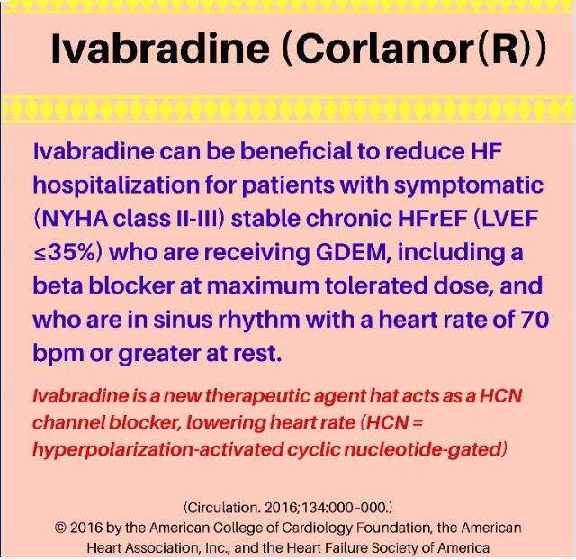 💥Ivabradine use in HF💥 ___________________________________ #heartfailure #heart #cards #cardiology #guidelines #PharmUpdate #pharmacy #pharmacist #rxduo #cardio #doctor #cardiologist #NP #PA #FNP #PharmD #RN #MD #DO