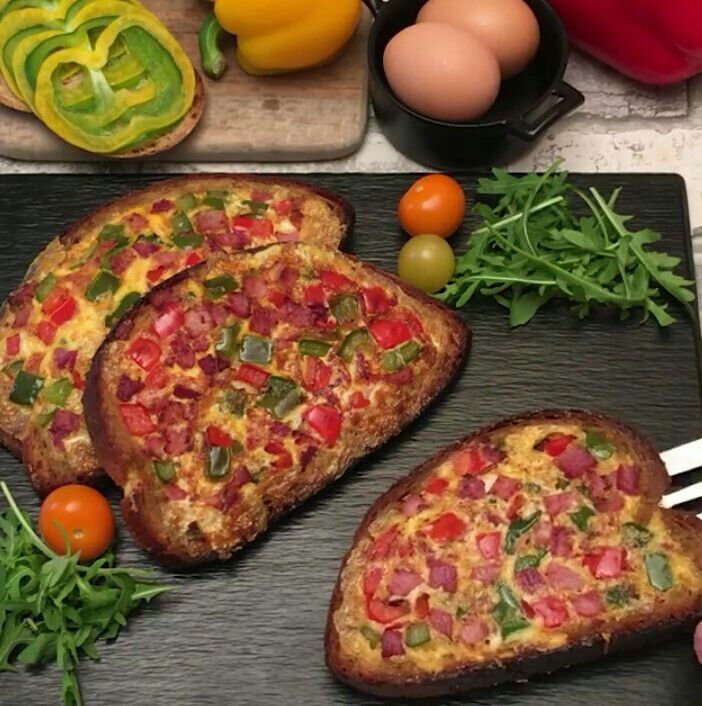 Image result for omelette in a hole