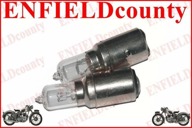 2 UNITS 12V-35/35W MOTORCYCLE HEADLAMP HEADLIGHT HALOGEN M-5 BULB Ba20d TYPE