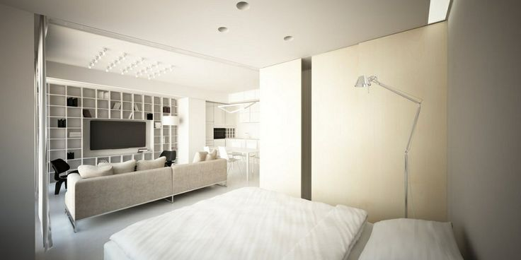 wnętrza Nordic Lights | projekt aranżacji mieszkania Kraków - sypialnia