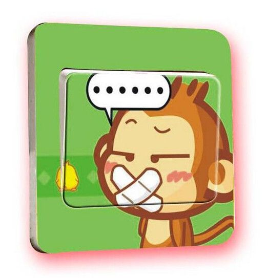 Wandtattoo Lichtschalter, Aufkleber an der Wand von Schmuck, Ohrringe, Halsketten, Armbänder auf DaWanda.com