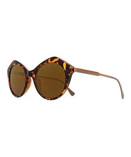 Joes Jeans Tortoise & Brown Browline Sunglasses | zulily