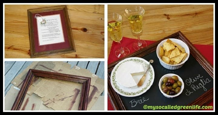 DIY Chalkboard Tray From Old Frame Tutorial