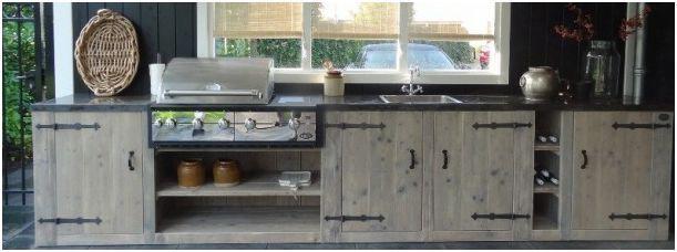 Steigerhout keuken.