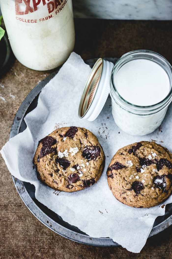Best Ever Chocolate Chip Cookies (with herb-infused butter and fleur de sel)