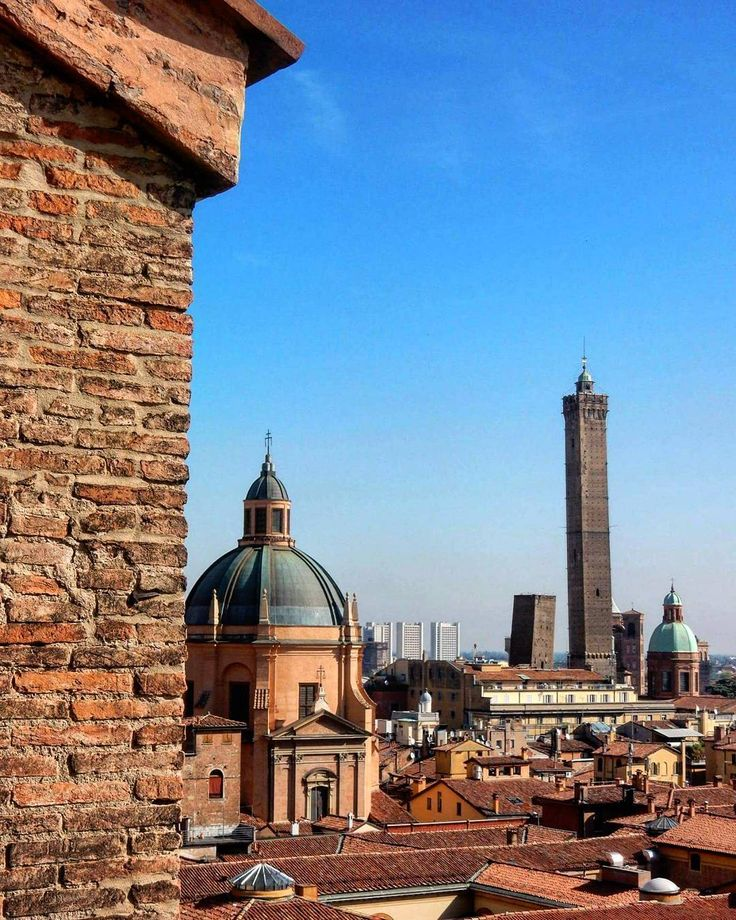 Bologna rooftop view