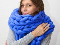 Große Schal, klobige Schal, Farbe mintgrün