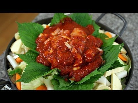 Just half the chilli pepper flakes   Dakgalbi (Spicy grilled chicken and vegetables) recipe - Maangchi.com