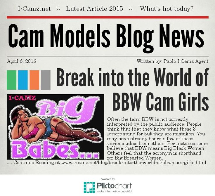 Latest article from www.i-camz.net Cam Models Blog - This is information that BBW modeling agencies won't tell you www.i-camz.net/blog/break-into-the-world-of-bbw-cam-girls.html #BbwCamGirls!!