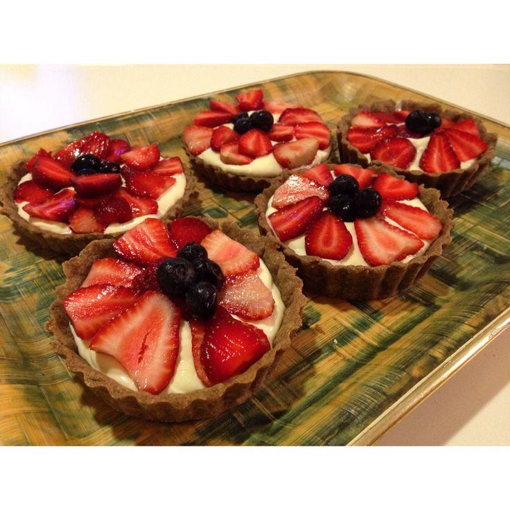 Tarteletas mascarpone y frutos rojos
