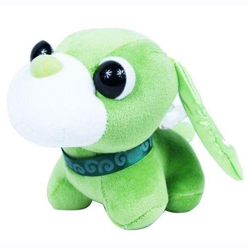 Stuffed Green Tea Dog Cute Big Head Dog with Sucker Plush Toys Small Dog Pendant