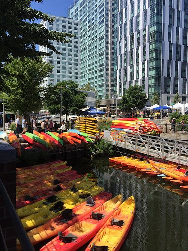 Kayaks in #KendallSquare #CambridgeMA
