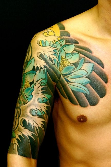 sun and wave tattoo | 06 Kb Url Http Tattoosremo Japanese Waves Tattoo Wave Tattoos Picture