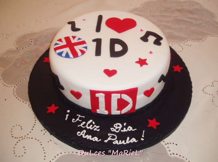 Pastel Doble Vista Double Sided Cake: Torta De One Direction II