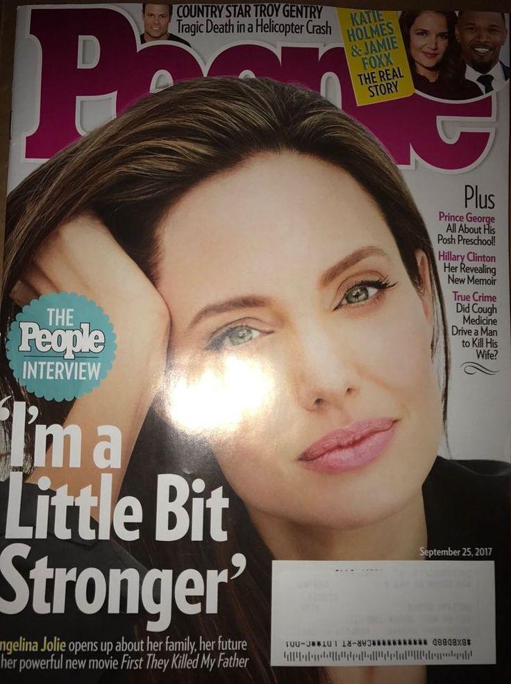 People MAGAZINE September 25 2017 ANGELINA JOLIE Troy Gentry HILLARY CLINTON    eBay