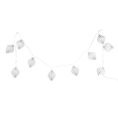 Origami - Guirlande lumineuse en papier blanche L 165 cm
