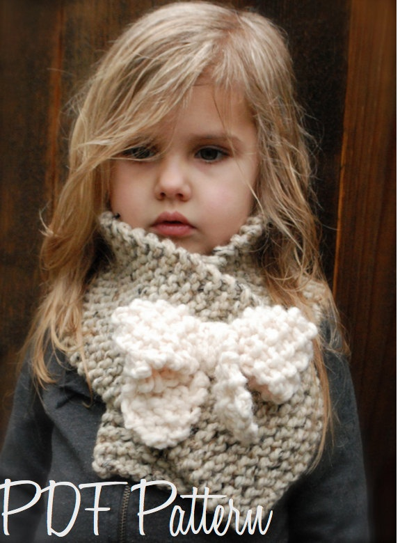 Knitting PATTERN-The Bowlynn Scarf  (Toddler, Child, Adult sizes) also can be Made to Order. $5.50, via Etsy.