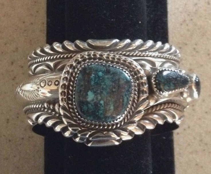 Turquoise In Sterling Silver Cuff